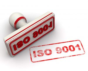 iso 9001 seal and imprint