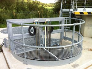 steel-handrail-water-treatment-works