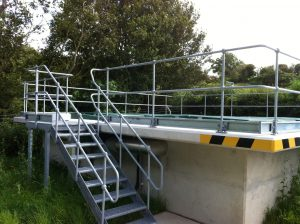 steel-staircase-water-treatment-works